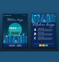 modern abstract brochure report or flyer design vector image