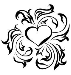 Ornate heart vector image