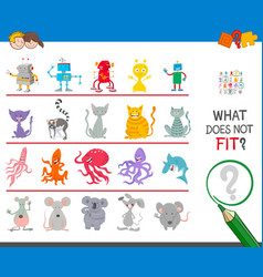 Picture that not fit in row game task vector