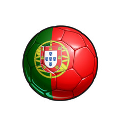 Portoguese flag football - soccer ball vector