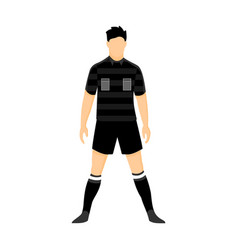 referee football black uniform vector image