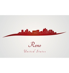 Reno skyline in red vector image