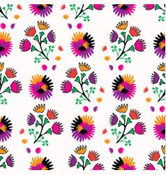 retro bohemian style floral bouquet pattern vector image