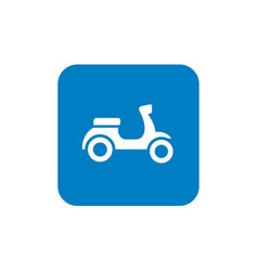 retro scooter icon design vector image