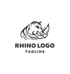 rhinoceros logo designs animal wildlife vector image