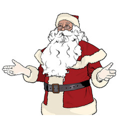 Santa claus gesturing welcome vector