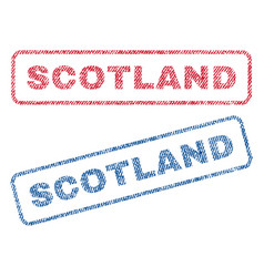 Scotland textile stamps vector