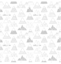 seamless background with grey doodle sketch vector image