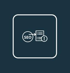 Seo report icon line symbol premium quality vector