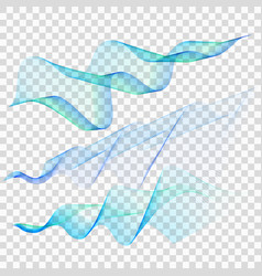 set of blue wave eps 10 vector image