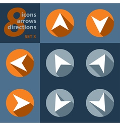 Set of eight icons with arrows in all eight vector