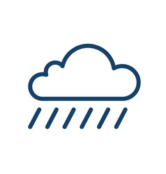 simple icon wet and rainy weather with drops vector image