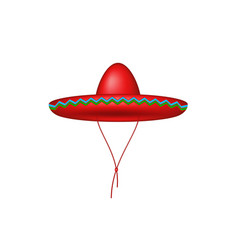 sombrero hat in red design vector image