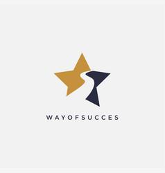 Star way logo icon template vector