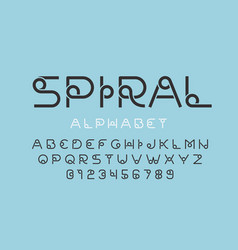 stylised font design alphabet letters and numbers vector image