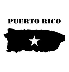 Symbol of isle of puerto rico and map vector