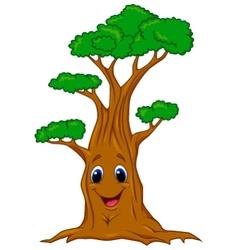 Tree cartoon character vector