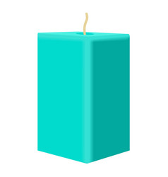Turquoise rectangular candle icon cartoon style vector