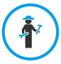 User Serviceman Circled Icon vector