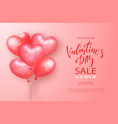 Valentines day sale banner beautiful background vector