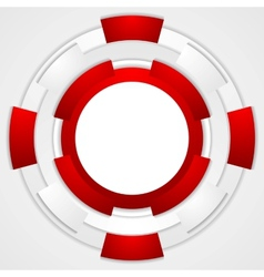 Vibrant corporate tech circles background vector image