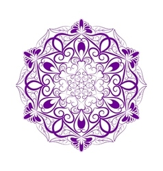 Violet Flower Mandala Over White vector