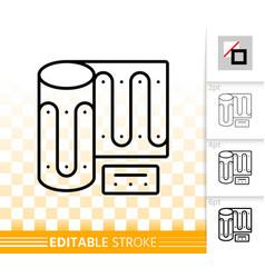 warm floor simple black line icon vector image