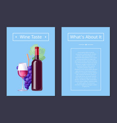 wine taste whats about it vector image