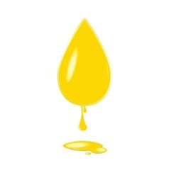 yellow drop color vector image
