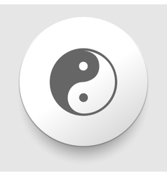 Yin and yang symbol vector