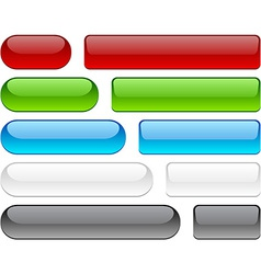 Glossy buttons on white vector image