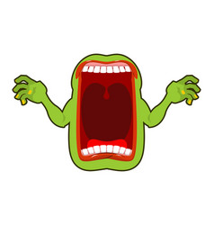 angry hungry spirit scary ghost shouts horrible vector image