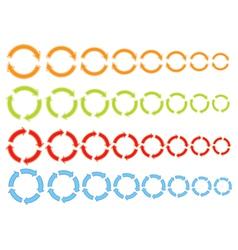 cycling arrows icons vector image vector image