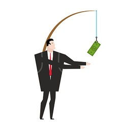 financial incentive for employee Fishing rod with vector image vector image