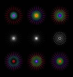 set of geometric circles vector image