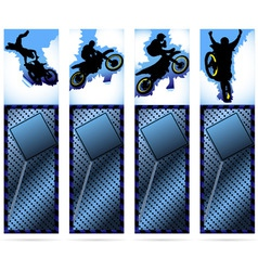 web elements on metalic background with motorcycle vector image