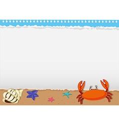Border design with sea animals vector