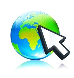 earth map globe vector image vector image