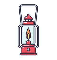 gas lamp icon cartoon style vector image