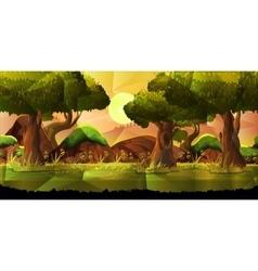 Landscape nature background vector image vector image