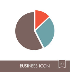 pie chart icon finances sign vector image