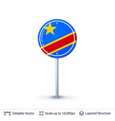 congo flag isolated on white vector image vector image