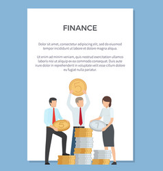 finance department poster vector image vector image