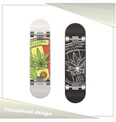 Medical marijuana skateboard five vector