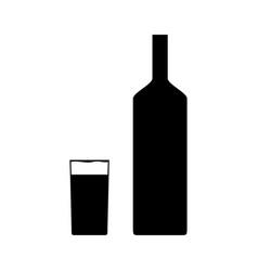 A glass bottle vector