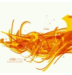Abstract background with orange stripes vector