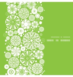 abstract green and white circles vertical frame vector image