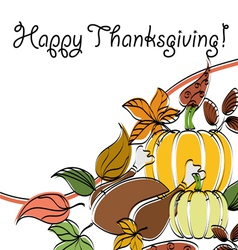 Abstract Thanksgiving text frame vector image