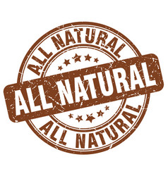 All natural brown grunge stamp vector