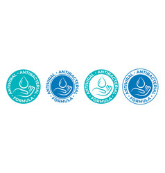 Antibacterial sanitizer icon anti bacterial hand vector
